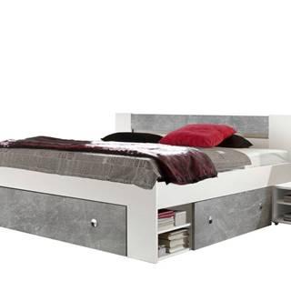 Posteľ s nočnými stolíkmi FIENA 140x200 cm