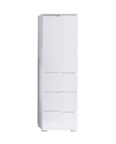 Polovysoká skrinka SPICE biela vysoký lesk