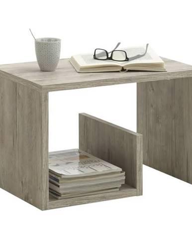 Prístavný stolík MIKE dub pieskový