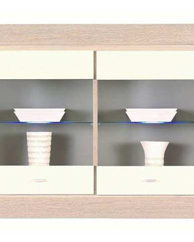 Závesná vitrína ALEX AX17 tuja/jazmín vysoký lesk