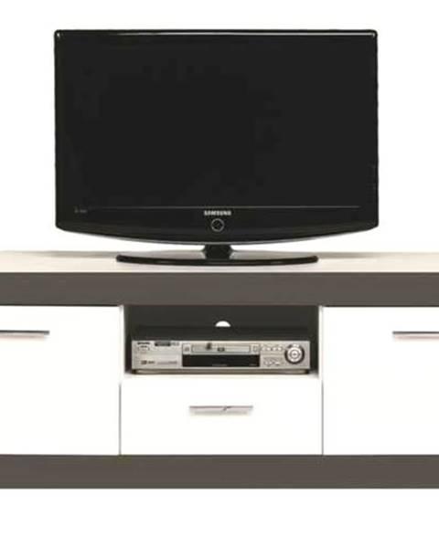 Sconto TV stolík WHITNEY GR1 biela/sivá