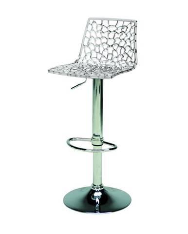 Barová stolička SPIDER priesvitná