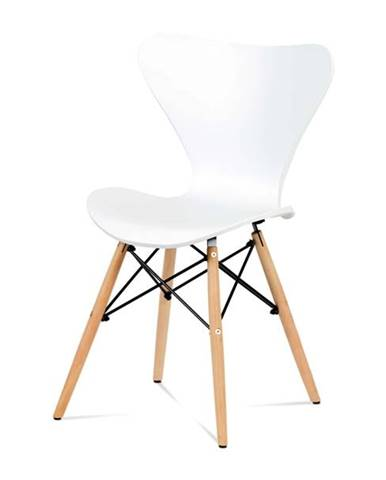 Jedálenská stolička DARINA buk/biela