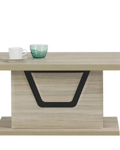 Konferenčný stôl BONN brest matný/čierna