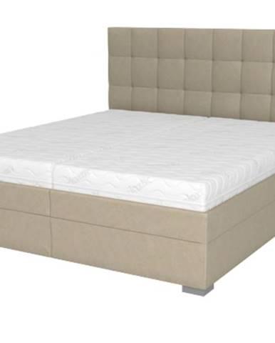 Posteľ DANA béžová, 180x210 cm, s matracom