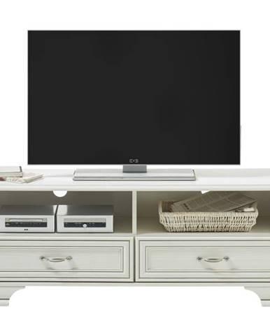 TV stolík VENEDIG biela/patina