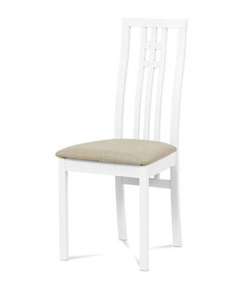 Sconto Jedálenská stolička AMANDA biela/béžová