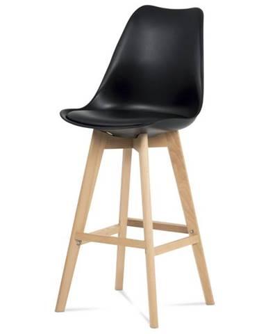 Barová stolička JULIETTE čierna/buk
