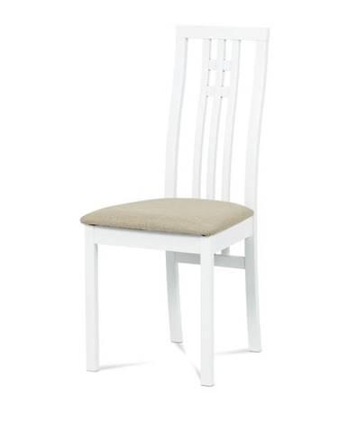 Jedálenská stolička AMANDA biela/béžová