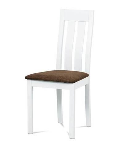 Jedálenská stolička BELA biela/hnedá