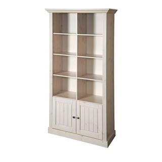 Regál/knižnica MONACO 149 borovica biela