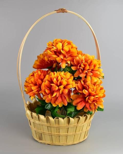 Tescoma Dušičkový košík zdobený Chryzantéma 20 x 30 cm, oranžová