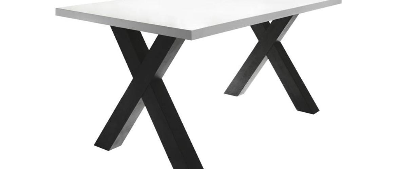 Jedálenský stôl BIG SYSTEM biela/čierna